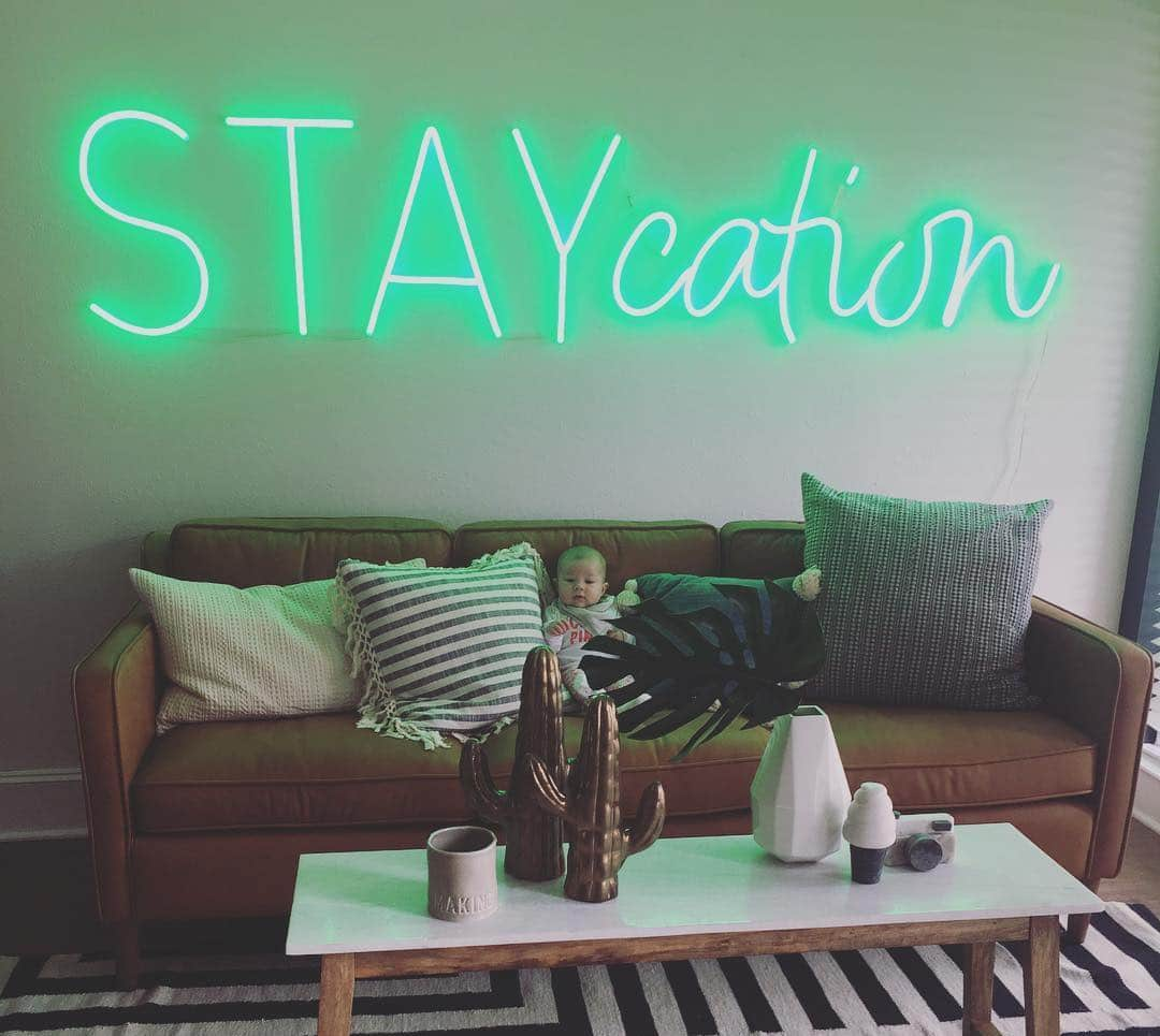 STAY cation neon sign